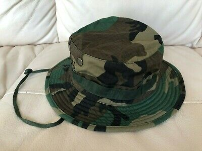 Woodland M81 Camo US Army Military Boonie Hat Jungle Sun Cap 1 Size Fits All