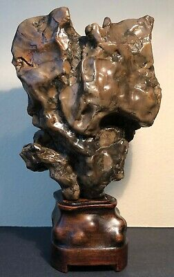 Antique Chinese An Agate Mountain Wax Stone Scholar's Rock  - Qing Dynasty