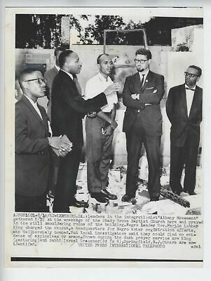 1962 Martin Luther King Jr Vintage Photo Rabbi Dressner Bombed Headquarters