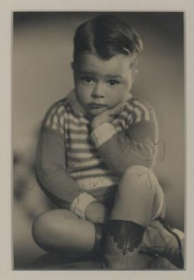 SPANKY Autograph Sepia Photograph Little Rascals child actor star Our Gang