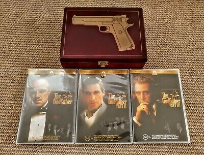 The Godfather Trilogy Limited Edition Wooden Box Set DVDs DVD Movies PAL R4