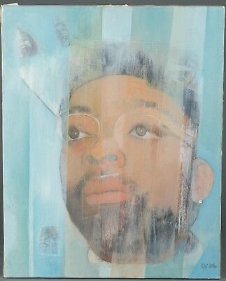 Merton Simpson Spiral Painting Spike Lee 20 X 16 Inches African American Artist