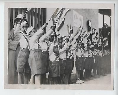 ORIGINAL 1936 ETHIOPIA CHILDREN PHOTO FASCIST ITALY ADDIS ABABA 7 1/4x9 inches!!