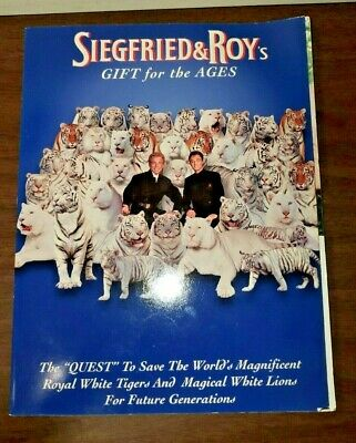 Siegfried & Roy's Gift For The Ages Softcover 2000 Mirage Las Vegas Tigers