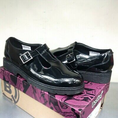 Clarks Purley Go Black Patent Leather T Bar Girls School Shoes Junior UK 6 F
