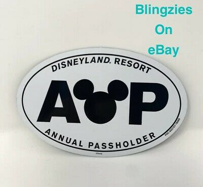 Disneyland Resort Annual Passholder AP Car Magnet  Oval- BRAND NEW Mickey Mouse