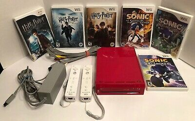 Nintendo Wii Lot With 6 Games 3 Harry Potter & 3 Sonic Games Tested Works Great!