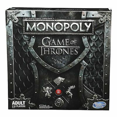 MONOPOLY Game of Thrones GOT Winterfell Castle Westeros 2 to 6 Players NEW
