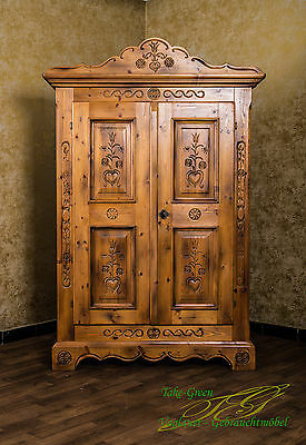 Voglauer Anno 1600 Farmhouse Wardrobe Wardrobe Hallway Cupboard Cottage Wardrobe