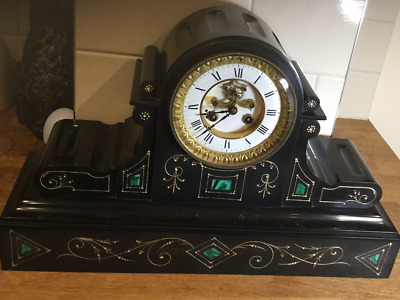 A Good Belguim  Slate/ Marble/ Visible Escapement Mantle Clock Circa 1880