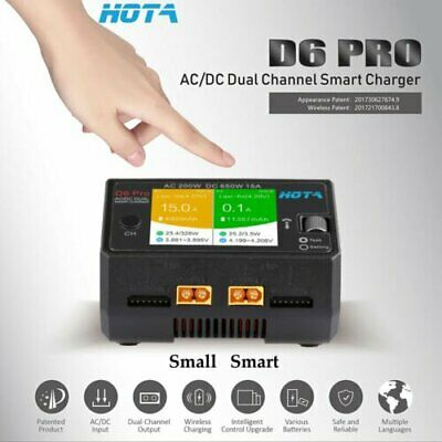 HOTA D6 Pro Smart Charger AC200W DC650W 15A for Lipo NiMH Battery with Phone AU
