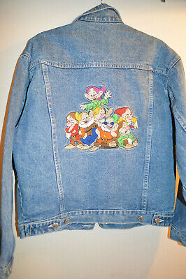 Vintage Disney Store Snow White & Seven Dwarfs Denim Jacket Small Medium Unisex