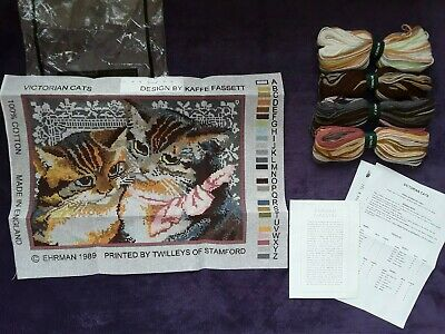 Ehrman Tapestry by Kaffe Fassett NEW discontinued 1989 rare Victorian cats