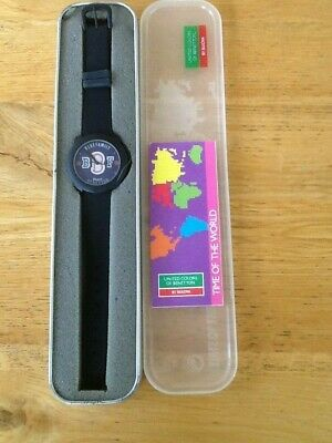United Colors of Benetton Watch by Bulova Time of the World New Blue Family Face