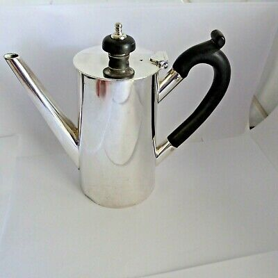 Vintage Silver Plate Small Coffee Pot 1/2 Pint Mappin And Webb  Princes Plate