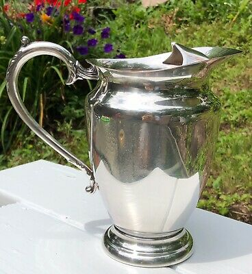Vintage PRIMROSE PLATE Silverplate Water Pitcher