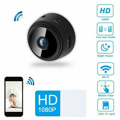 Home Nanny Mini Hidden Camera Spy HD 1080P Security Camera Night Vision Magnetic