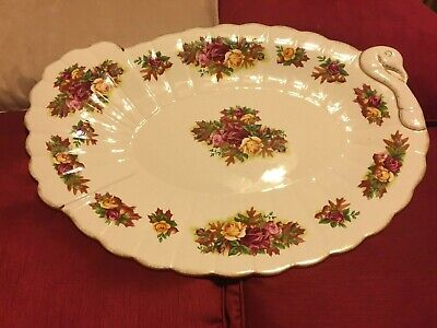 "Royal Albert Old Country Roses Serving Platter, 19"" TURKEY PLATTER  Never Used"