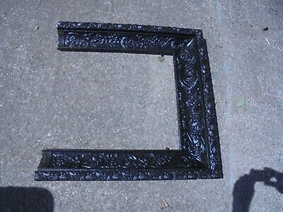 Antique Cast Iron Victorian ~ Art Nouveau Fireplace Surround ~ Ornate