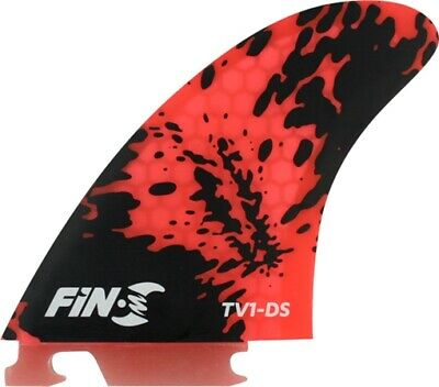 FIN-S TV-1 HONEYCOMB RED BLACK 3 fins