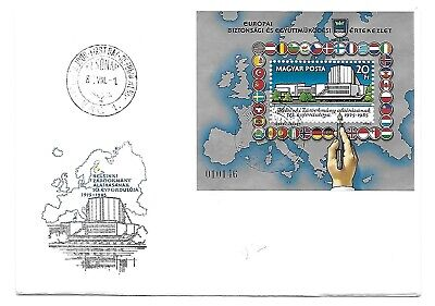 Hungary BLOC 20Ft stamp EUROPA FDC cover Budapest 1/8/1985 beautiful