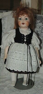 "24"" Bisque Head 122 Simon Halbig REPRO Seeley Body Doll-Open Mouth"