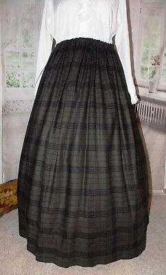New Ladies Victorian Outlander Skirt whitby Costume Brown Steampunk Fancy Dress