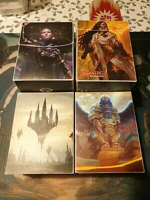 4 x ULTRA PRO DECK BOX MTG BRANDED DECK BOXES MAGIC THE GATHERING TOP 8
