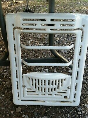 Vintage Ornate Heat Register Iron Porcelain Wall Grate Heater Cover Antique