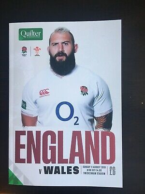 England V Wales 11th Aug 2019 World Cup Warm Up Programme