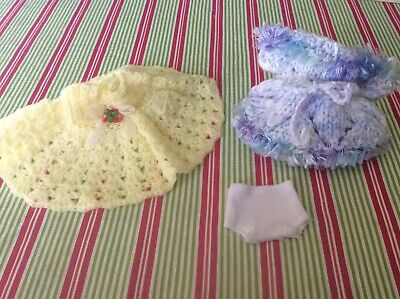 Vintage dolls dresses x 2 with pants for very small dolls.