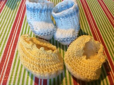Dolls Knitted Shoes x 2 Pairs.