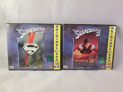 Superman & Superman 2 VCD's Rated G Phillippines