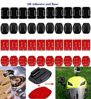 3M Flat Surface Base Curved Adhesive Pads Mount for Gopro hero 6/5/4/3 Xiaomi yi