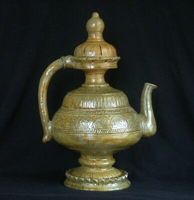 Antique Pottery Aftaba or Ewer, maybe Chinese, Indian, or Islamic