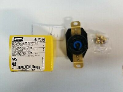Hubbell HBL2320 20A 250V  Twist Locking Receptacle