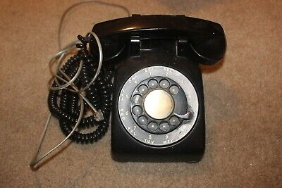 vintage Bell System Western Electric rotary desk phone black 1954 500 cd