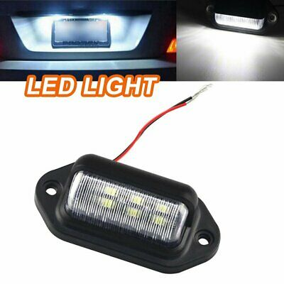 6 LED License Number Plate Light Lamps for Truck SUV Trailer Lorry 12/24V HU