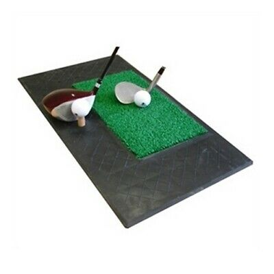 Forgan Golf Chip & Drive Mat - 2 ft Rubber/Turf Area & rubber tee