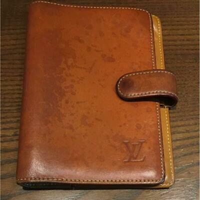 LOUIS VUITTON Nomade Caramel Agenda MM Day Planner Cover R20473 Auth #1470Q