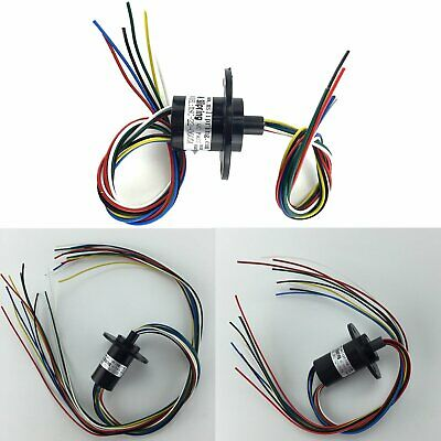 5A 22mm 500RPM 8/12 Wires Dia Collector Wind Turbine Power Generator Slip Ring