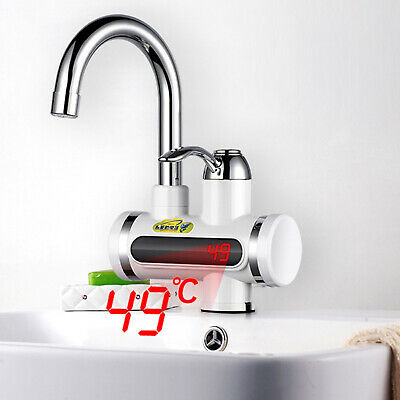 Kitchen Bathroom Electric Hot Water Heater Faucet Instant Heating Chrome Tap Pro