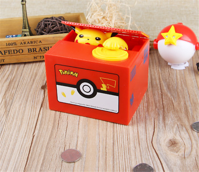 Pokemon Pikachu Moving Electronic Coin Money Piggy Bank Savings Box Xmas Gift HU