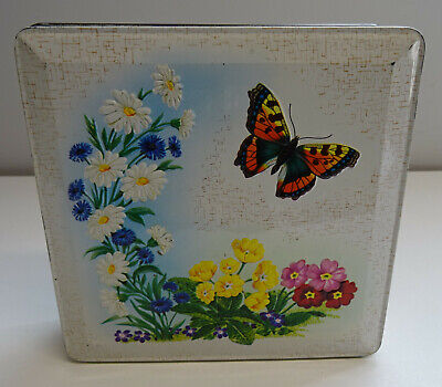 Vintage Huntley & Palmers Butterfly Biscuits Tin Grace