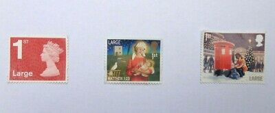 25 Unfranked First Class Large Mixed Stamps Off Paper. Face Value £26.50