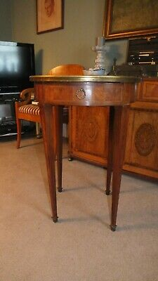 French round marquetry side table of outstanding quality
