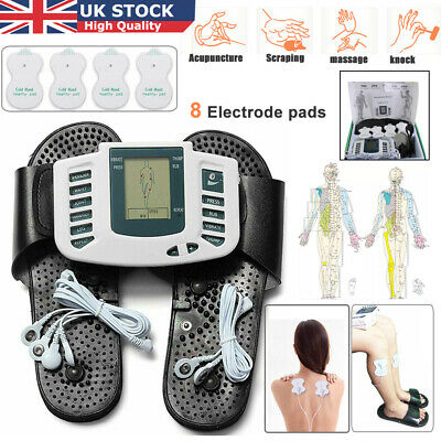 Unit Tens Digital Machine Acupuncture Pads With Massage Slipper Feet Therapy Set