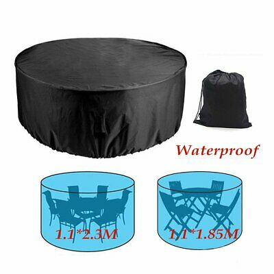Round Furniture Table Shelter Cover Heavy Duty Waterproof Anti-Dust Garden Patio
