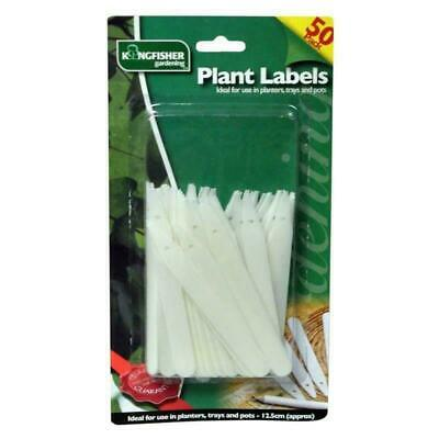 50Pk Plastic White Plant Labels Seed Tray Marker Name Tags Gardening Pots Pencil