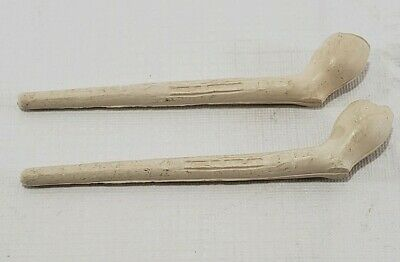 Antique 1800's English Clay Tobacco Smoking Pipes (2)